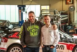 Rene Munnich, ALL-INKL.com Münnich Motorsport owner and Reinis Nitiss, ALL-INKL.com Münnich Motorsport