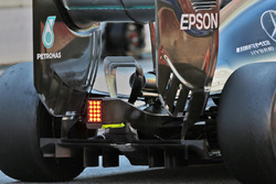 Mercedes AMG F1 W07 Hybrid rear wing, rear diffuser and exhaust detail