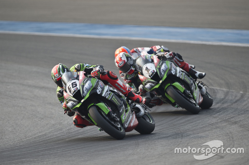 Tom Sykes, Kawasaki Racing Team y Jonathan Rea, Kawasaki Racing Team