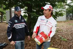 Nick Heidfeld, BMW Sauber F1 Team and Timo Glock, Toyota F1 Team