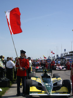 Car of Paul Tracy on the starting grid