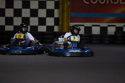 Drivers and media go-kart event: Scott Wimmer and a competitor
