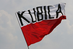 Robert Kubica,  BMW Sauber F1 Team, fans flag