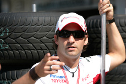 Timo Glock, Toyota watches the GP2 Race