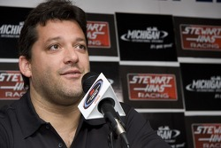Tony Stewart during the Stewart Hass Team announcement for the addition of Ryan Newman in 2009