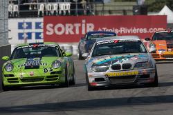 #09 Automatic Racing BMW M3 Coupe: Jeff Segal, Jep Thornton and #83 BGB Motorsports Porsche 997: Jon Miller, Craig Stanton