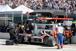 Pit stop for #37 Intersport Racing Lola B06/10 AER: Jon Field, Clint Field, Richard Berry