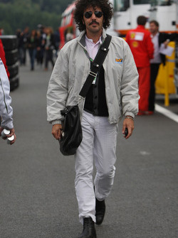 A man in the paddock
