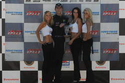 Brandon Davis receives his third place trophy