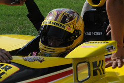 Sarah Fisher prepares to qualify