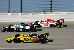 Sarah Fisher, Marco Andretti and Mario Moraes
