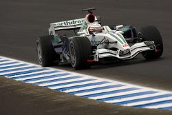 Riccardo Patrese essaie la Honda RA107