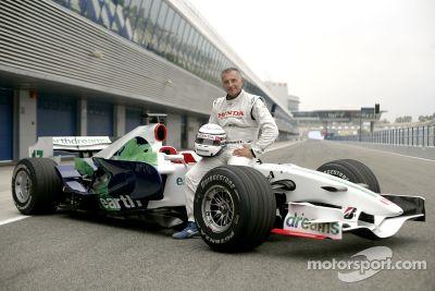 Riccardo Patrese Honda RA107 test