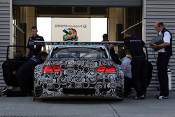 Jorg Muller and Augusto Farfus test the BMW M3 for the ALMS 2009 season