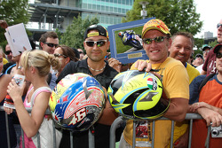 Valentino Rossi fans show-off their autographed memorabilia