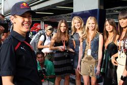 Formula Una's girls with Sebastian Vettel, Scuderia Toro Rosso