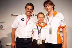 BBQ at FBMW Hospitality: Dr. Mario Theissen, BMW Sauber F1 Team, BMW Motorsport Director, Esteban Gutierrez, Josef-Kaufmann-Racing and his mother