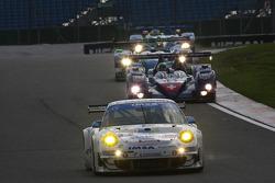 #75 IMSA Performance Matmut Porsche 997 GT3 RSR: Michel Lecourt, Richard Balandras