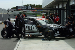 Working on the No 7 car