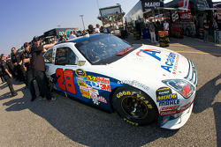 Academy Ford in tech inspection line