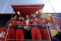 Sébastien Loeb y Daniel Elena, Daniel Sordo y Marc Marti