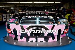 Elliott Sadler's Dodge sits in the garage