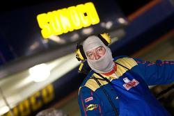 Sunoco workers take a minute to watch the race