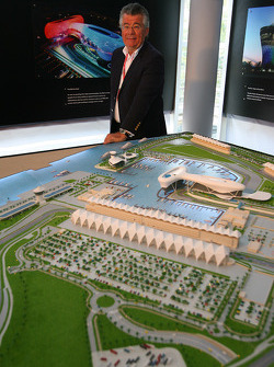 Philippe Gurdjian Chief Executive Officer Abu Dhabi Circuit with a model of the Yas Marina Circuit in Abu Dhabi