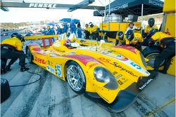 Pit stop for #5 Penske Racing Porsche RS Spyder: Helio Castroneves, Ryan Briscoe
