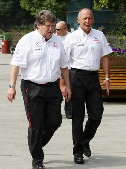 Norbert Haug, Mercedes, Motorsport chief, Ron Dennis, McLaren, Team Principal, Chairman