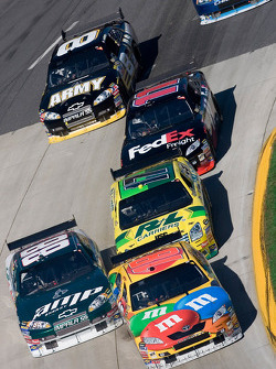 Kyle Busch, Dale Earnhardt Jr., Matt Kenseth, Denny Hamlin and Aric Almirola