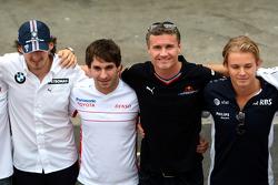 Wings For Life Livery Red Bull Racing David Coulthard photoshoot: Robert Kubica,  BMW Sauber F1 Team, Timo Glock, Toyota F1 Team, David Coulthard, Red Bull Racing and Nico Rosberg, WilliamsF1 Team