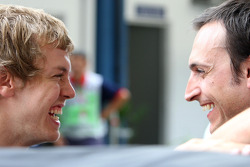 Sebastian Vettel and race engineer Riccardo Adami