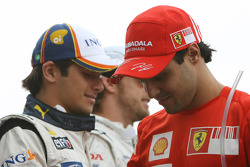 Felipe Massa, Scuderia Ferrari and Nelson A. Piquet, Renault F1 Team
