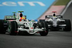 Rubens Barrichello, Honda Racing F1 Team, RA108 y Nico Rosberg, Williams F1 Team, FW30