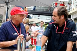 Niki Lauda y co-propietario Gerhard Berger