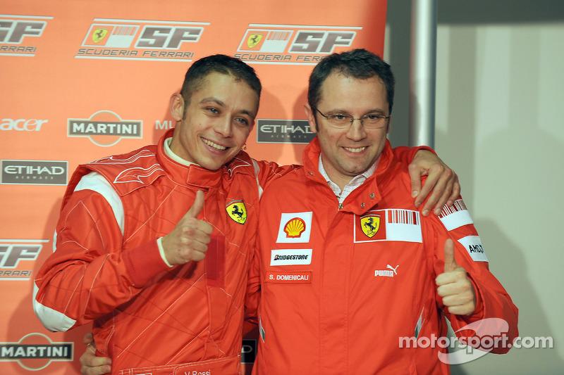 Valentino Rossi y Stefano Domenicali