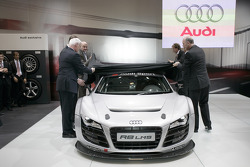 The Audi R8 LMS during the presentation at the Essen Motor Show