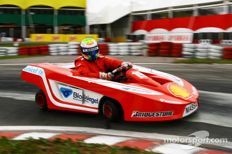 felipe massa, scuderia ferrari at international challenge of go-kart