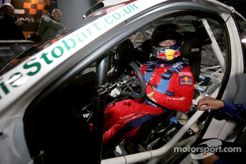 Sébastien Loeb at the wheel of a Ford Focus WRC 08