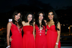Fly Kingfisher Speed Divas at the Fly Kingfisher boat party on the Indian Empress
