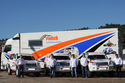 Equipa Padock: driver Adelio Machado, driver Francisco Pita and Humberto Goncalves, Martine Pereira and co-driver Jose Marques