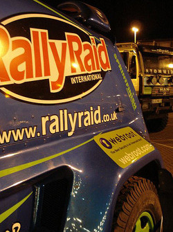 Rally Raid UK Desert Warrior enters the boat at Le Havre for the crossing to Buenos Aires