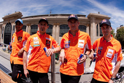 Cyril Despres, Alain Duclos, Jordi Viladoms and Marc Coma
