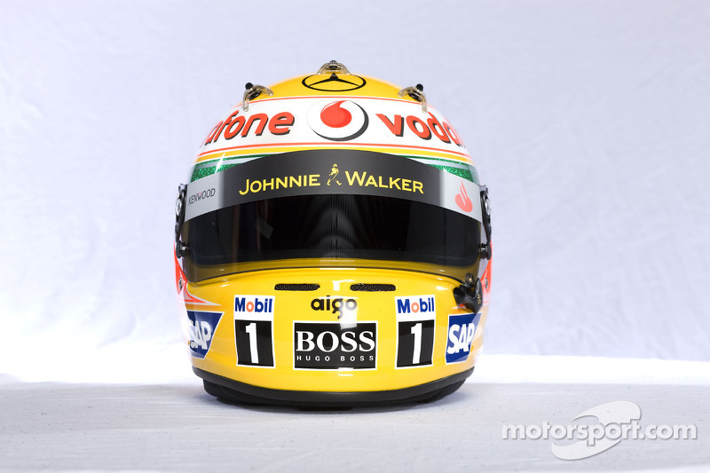 Casco de Lewis Hamilton
