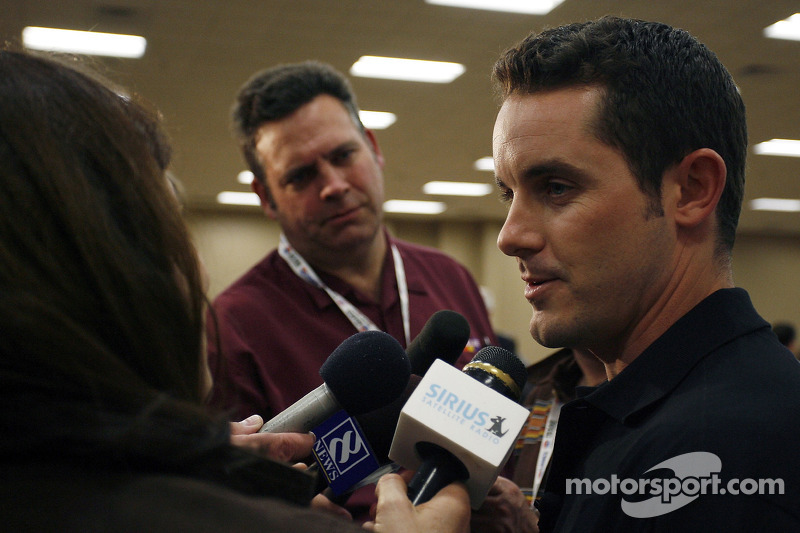 The newest member of Richard Childress Racing, NASCAR Sprint Cup Series driver Casey Mears, meets the media