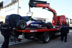 Robert Kubica, BMW Sauber F1 Team, short stop ve some techn. problem