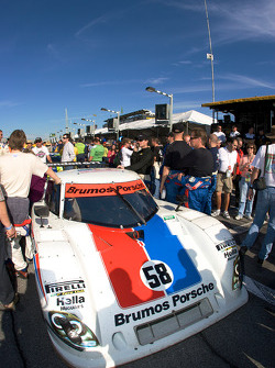 Pole winning #58 Brumos Racing Porsche Riley on the starting grid