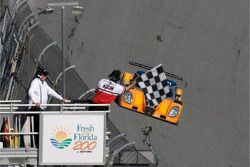 End of the session: #10 SunTrust Racing Ford Dallara: Max Angelelli, Brian Frisselle, Pedro Lamy, Wayne Taylor
