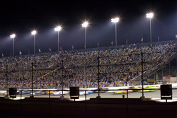 The field hits the tri-oval